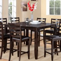 East West Furniture Fairwinds Square Counter Height Dining Table with Butterfly Leaf