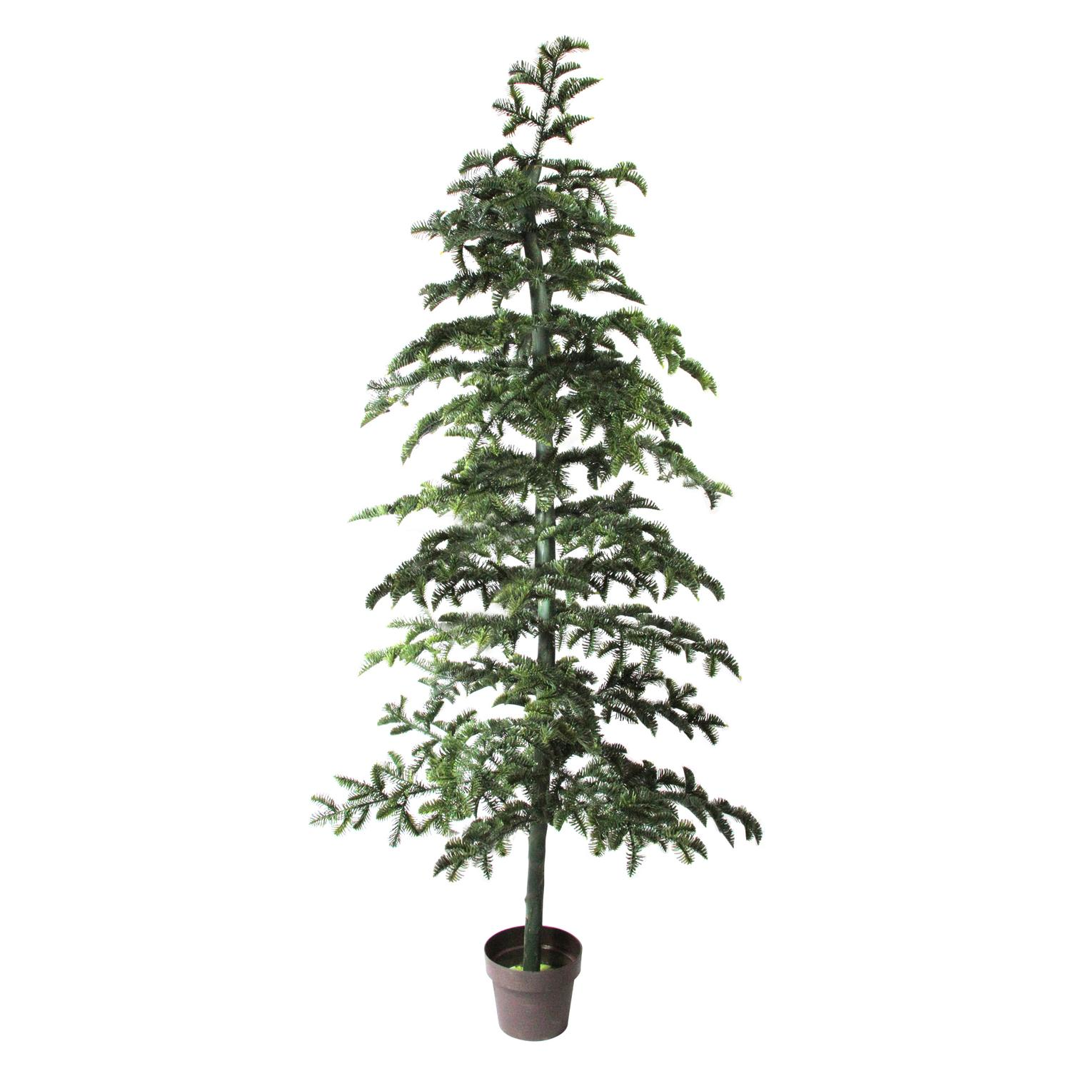 6.5' Potted Green Spruce Artificial Topiary Tree