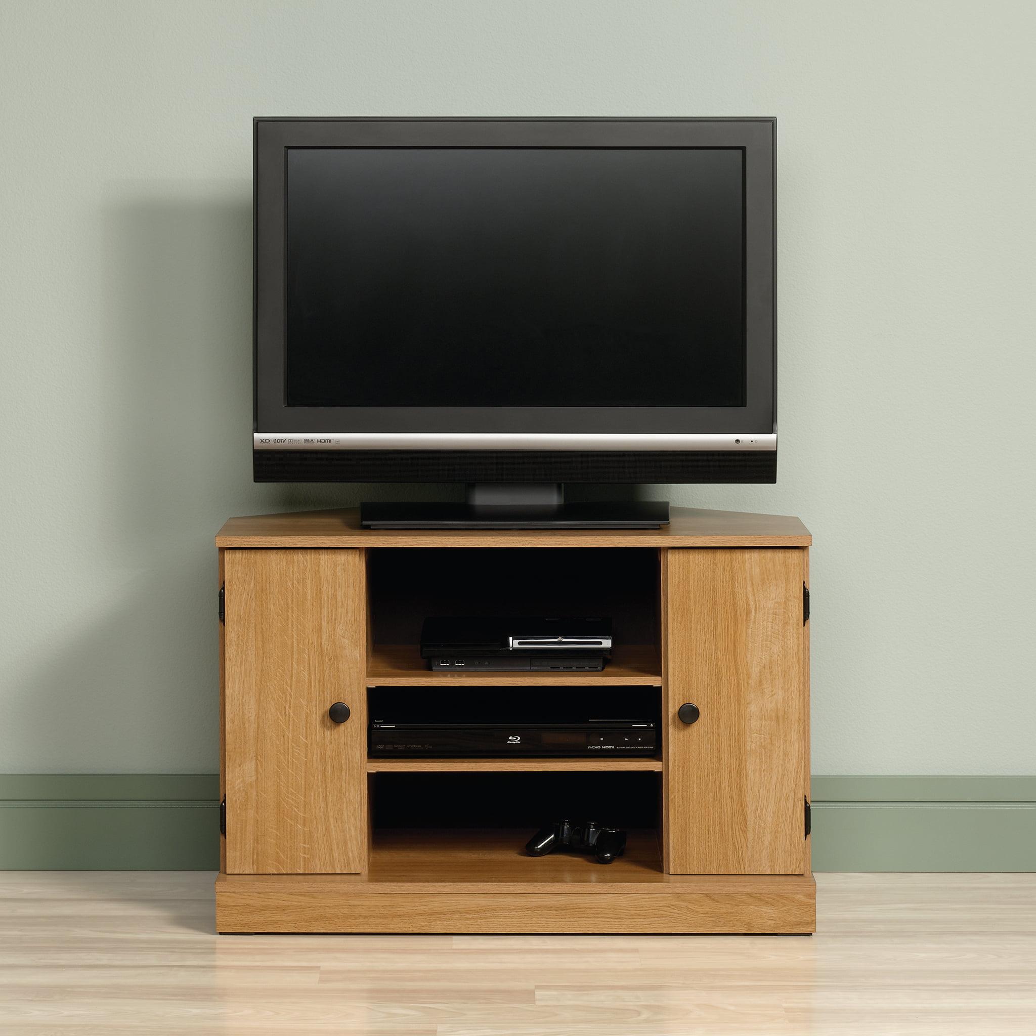 Sauder Beginnings Corner Tv Stand For Tvs Up To 40 Highland Oak