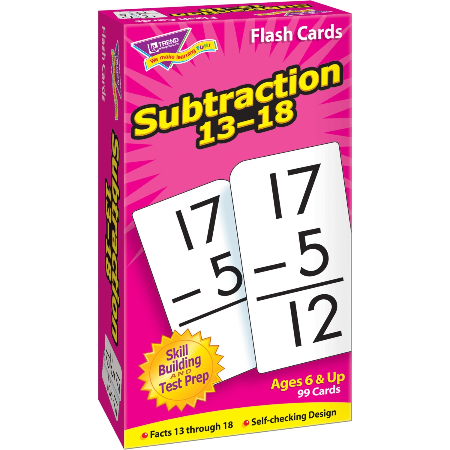 FLASH CARDS SUBTRACTION 13-18 99BOX