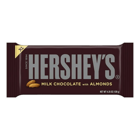 HERSHEY'S Extra Large Milk Chocolate with Almonds Bar, 4.25 oz