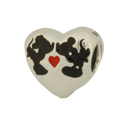 77ddb5438 PANDORA - Authentic PANDORA Disney Minnie & Mickey Kiss Charm In 925  Sterling Silver,791443ENMX - Walmart.com