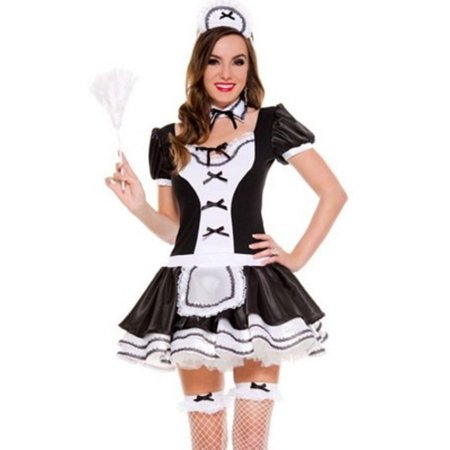 Sky Hosiery Sweet Majestic French Maid 70570 Black/White (French Maid Uniforms)
