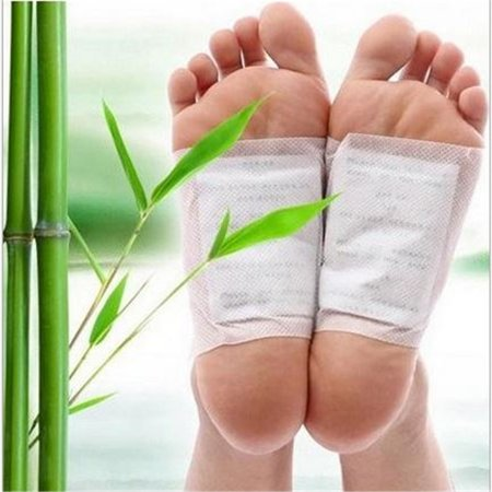 10PCS Bamboo Vinegar Foot Patch Stress Relive Detox Promote Sleep Foot Pad