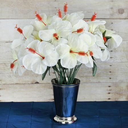 Hibiscus Flowers (60 Artificial Silk Hibiscus Flowers Wedding Vase Centerpiece Decor -)