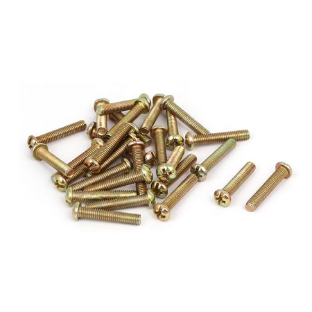 22 Mm Screw - Uxcell M4 x 22mm Fully Thread Round Head Machine Screws Bolts Fasteners (30-pack)