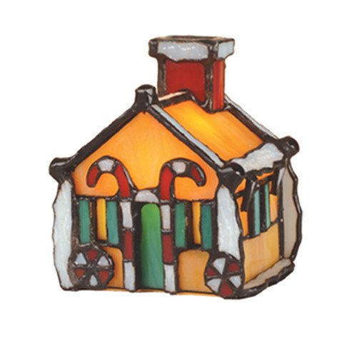 Meyda Tiffany Gingerbread House Accent Table Lamp