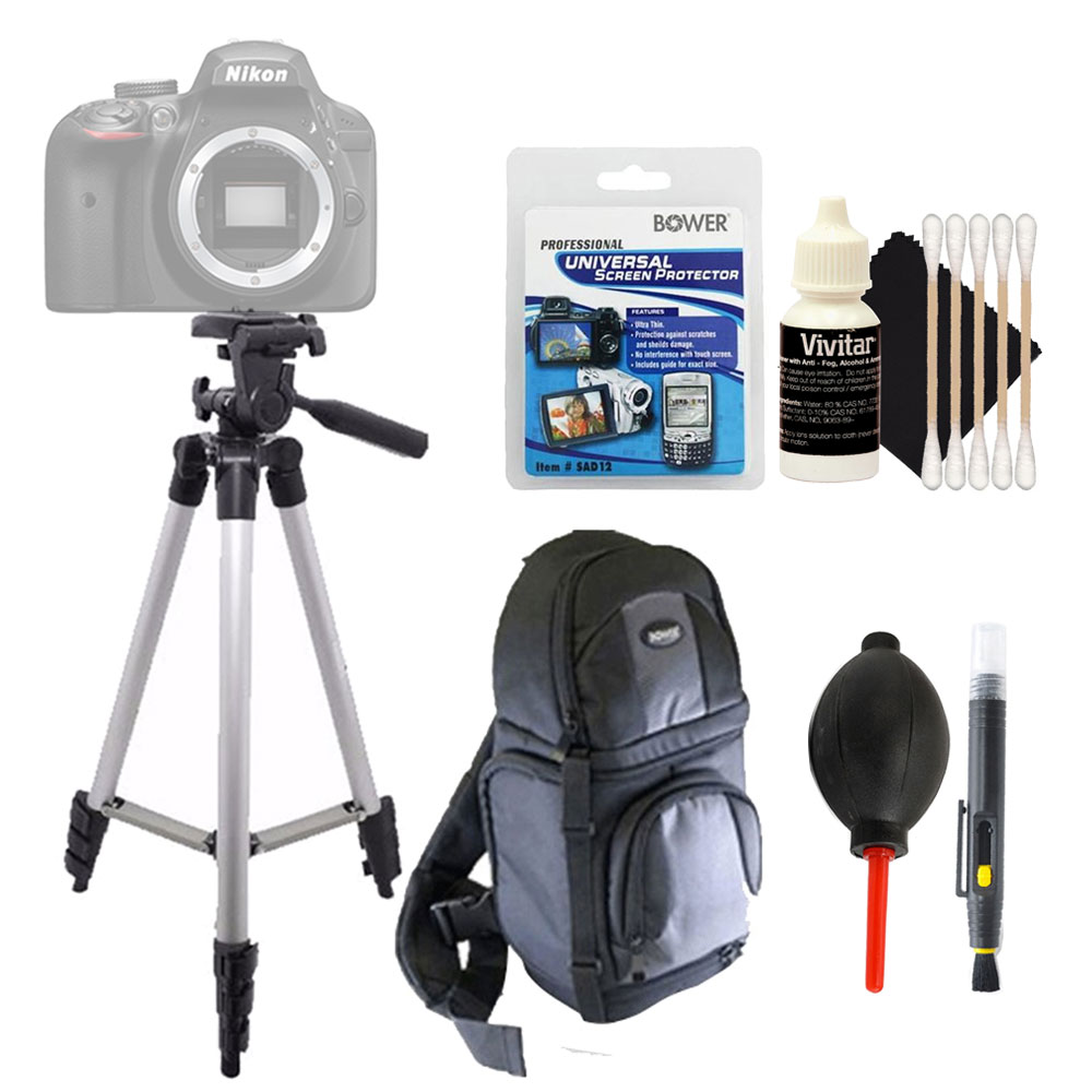 Tall Tripod + Universal Screen Protector & Top Accessory Cleaning Kit For All Digital Cameras