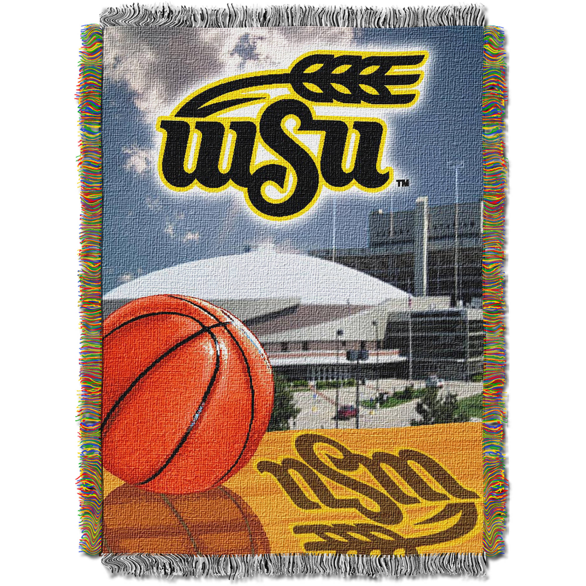 "NCAA 48"" x 60"" Home Field Advantage Series Tapestry Throw, Wichita State"