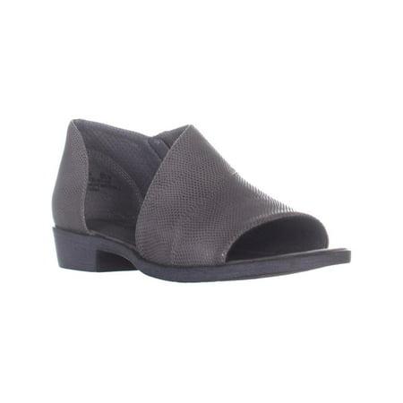 Womens BareTraps Sedina Open Side Slip On Sandals, Mid Gray, 6.5 (Slip On Miu Miu)