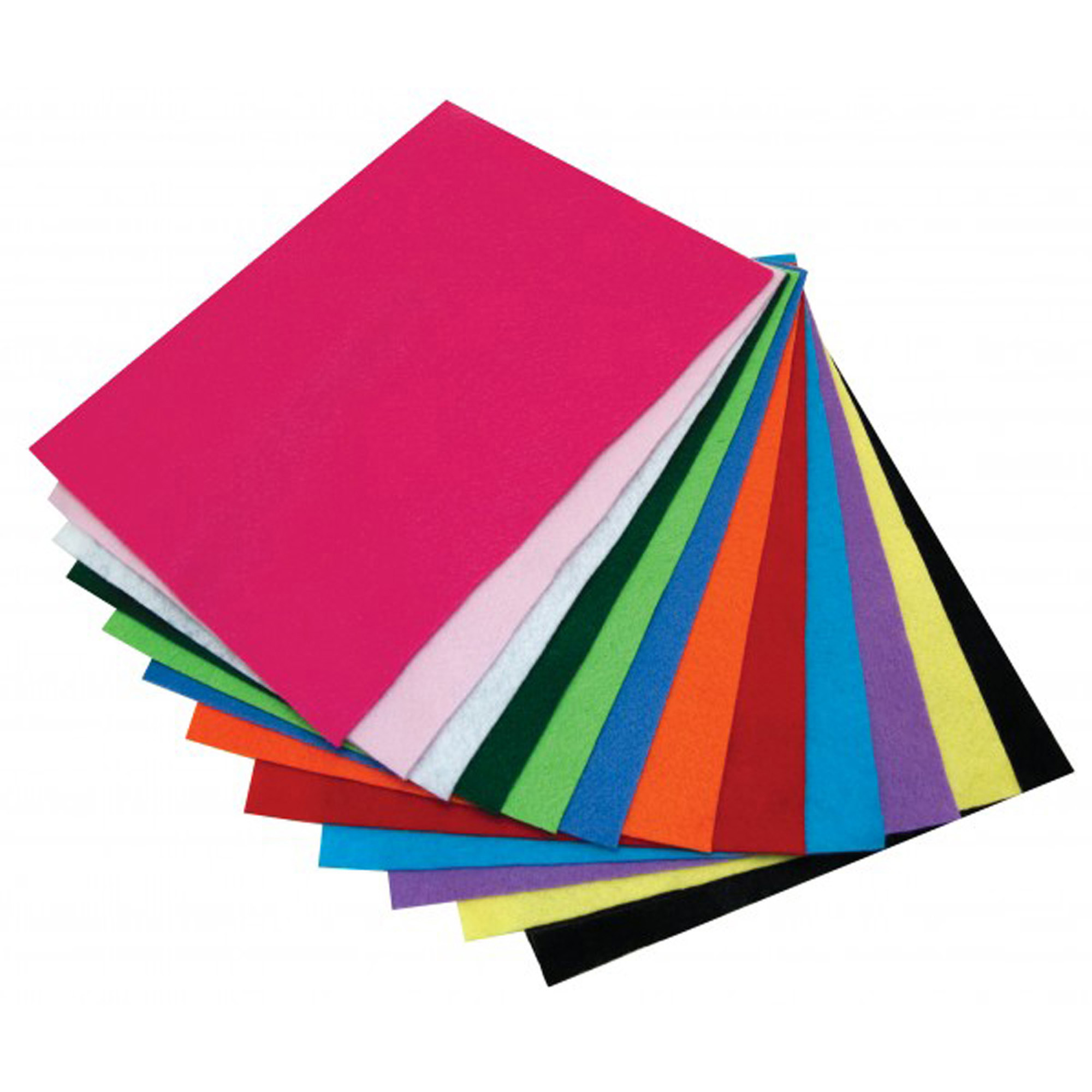 "Craft Felt, 9"" x 12"", 12 Sheets per pack, 4 packs"