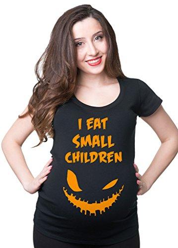 Halloween Maternity T-Shirt Funny Halloween Costume Pregnancy Top Large Black