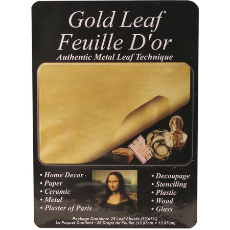 Mona Lisa Metal Leafing Sheet Gold 5-1/2in x 5-1/2in/Sheets (Germany Gold Leaf)