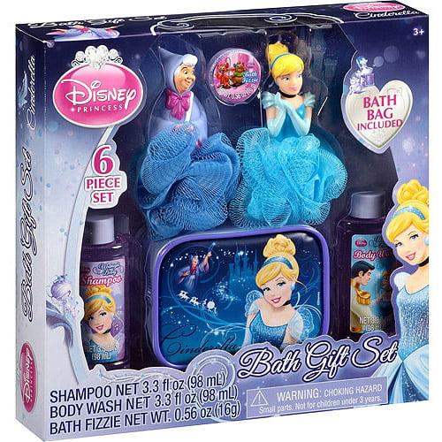Disney Princess Cinderella Midnight Berry Scented Bath Gift Set, 6 pc