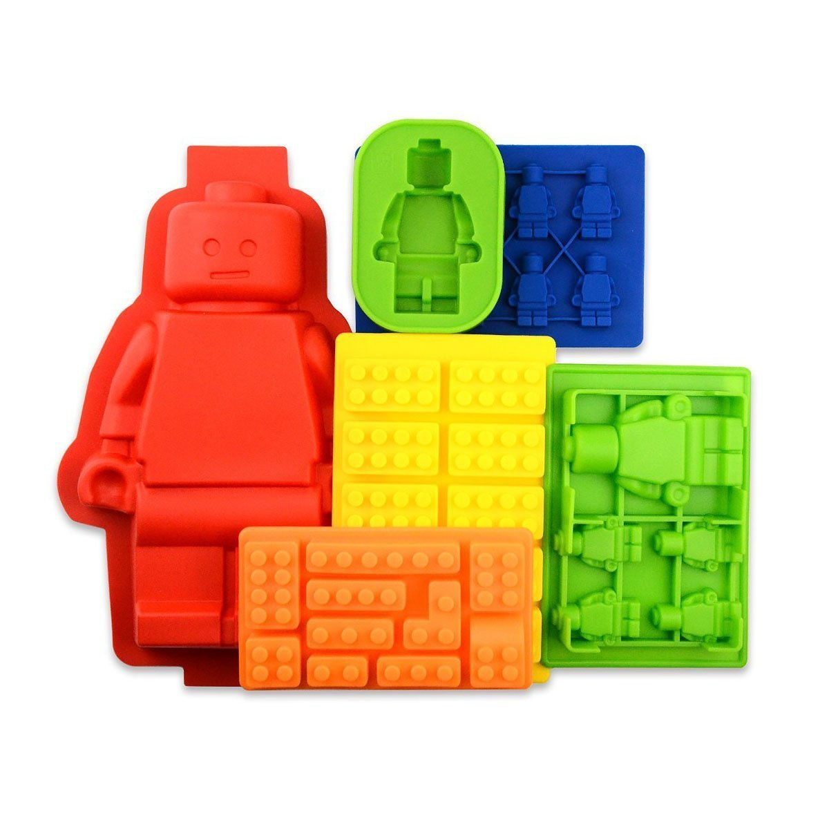 Bigear 6pc Candy Tray Molds For Lego Lovers, Chocolate Mo...