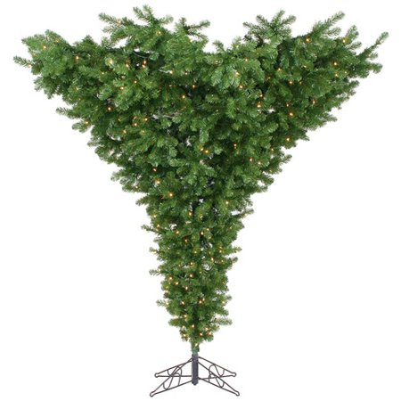 Vickerman 9' Upside Down Artificial Christmas Tree, Unlit ()