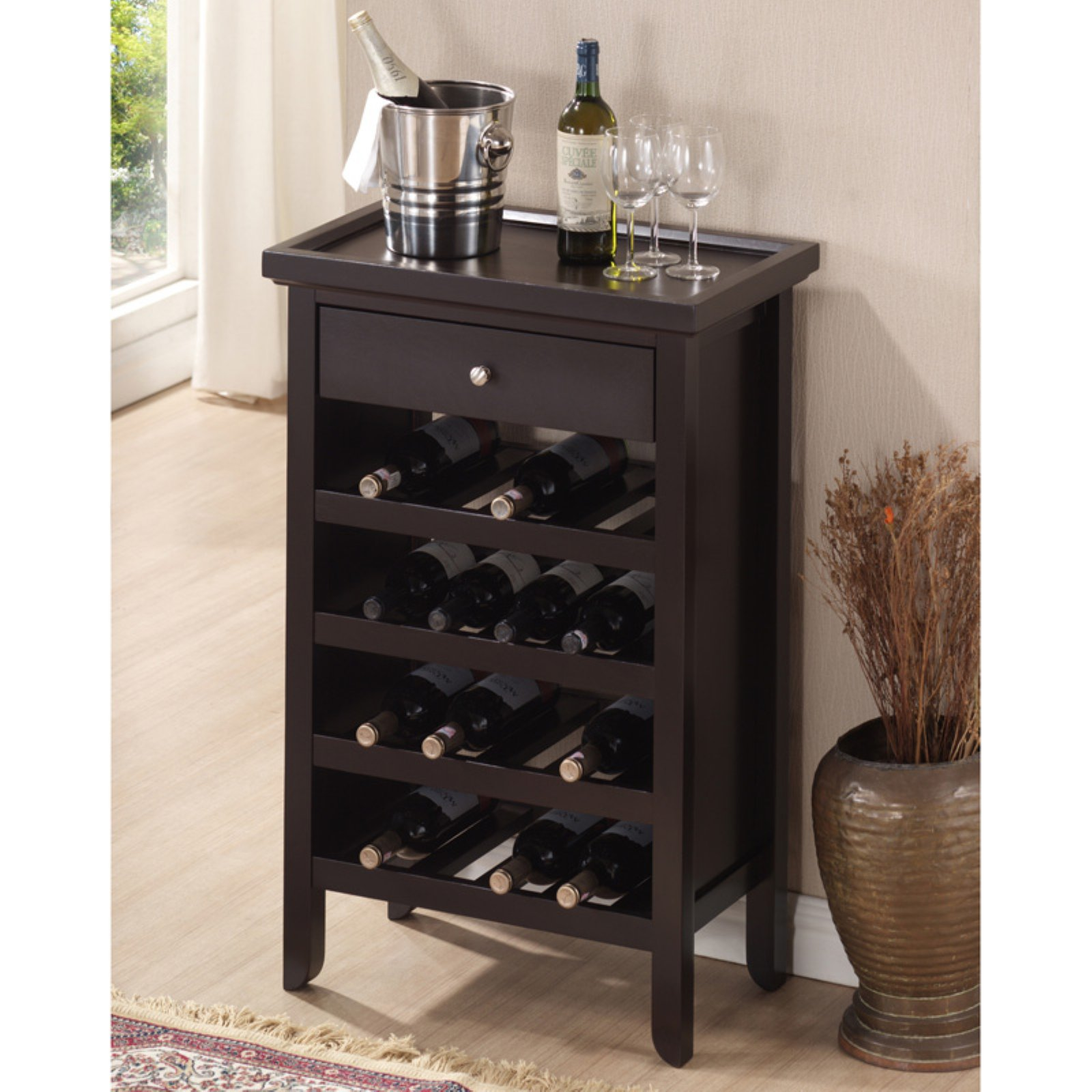 Baxton Studio Atlanta Wine Cabinet