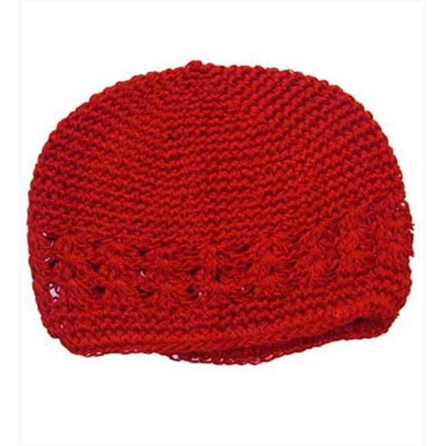 CoverYourHair 50244 Red Adorable Kufi Baby Hat