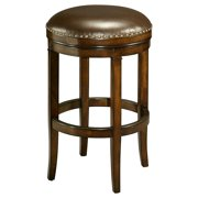 Impacterra 30 in. Naples Bay Backless Leather Bar Stool - Distressed Cherry