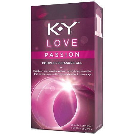 K Y Love Passion Couples Pleasure Gel Intimate Lubricant 1 69 Oz  Pack Of 3