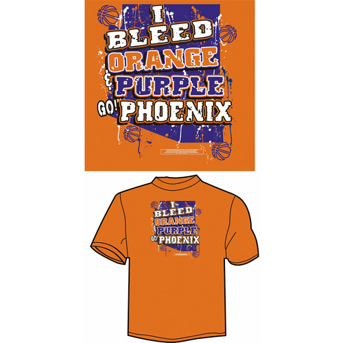 "Phoenix Basketball ""I Bleed Orange and Purple, Go Phoenix"" T-Shirt, Orange"