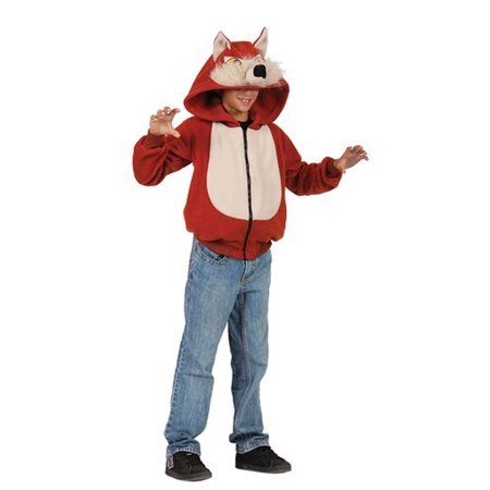 Child Wild Red Fox Hoodie Costume