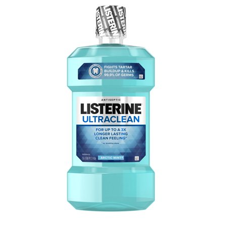 (2 pack) Listerine Ultraclean Oral Care Antiseptic Mouthwash, Arctic Mint, 1.5 l