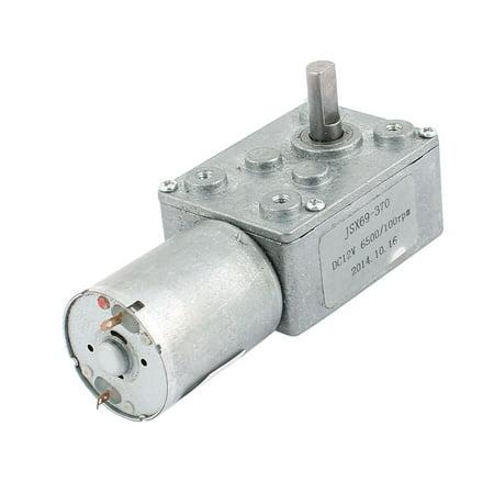 DC 12V 100TR/MIN 6mmx13mm D-Shape l'énergie électrique l'arbre moto-réducteur à vis sans fin Turbo - image 3 de 3