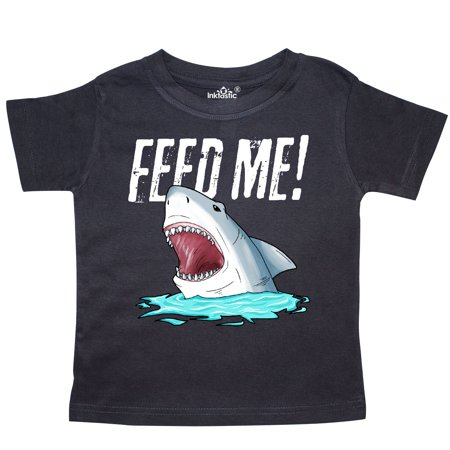 Inktastic Feed Me With Shark Head Toddler T Shirt Pop Culture Sharks Ocean Water