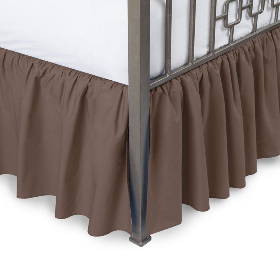 Solid Ruffled Bed Skirt With Split Corners Com