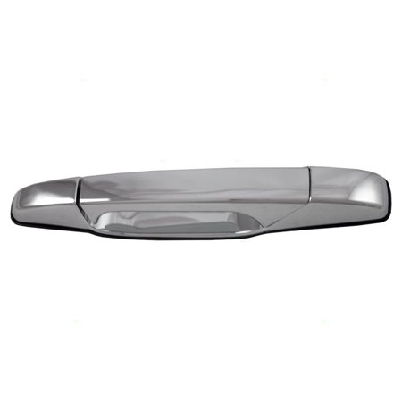Gmc Chrome Door Handles - Drivers Outside Outer Rear Chrome Door Handle Replacement for Cadillac Chevrolet GMC Pickup Truck SUV 22738725