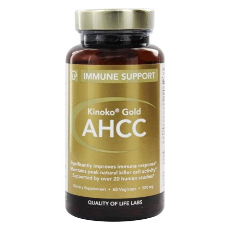 Quality Of Life Labs - Kinoko Gold AHCC 500 mg. - 60 (Best Quality Iron Supplement)