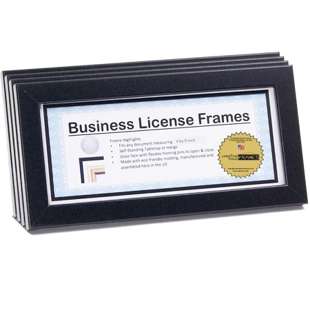 License Frames for Cosmetology Professionals 3.5 by 8.5 inch State Board License Holder Displays Certificates, Tax License and more - Self Standing or (Npm Self Signed Certificate In Certificate Chain)