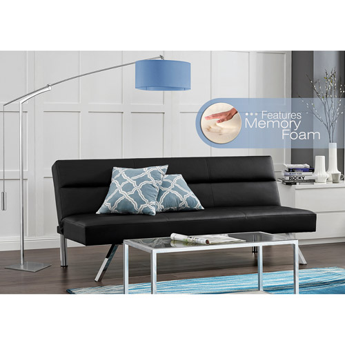 Kebo Deluxe Futon with Memory Foam, Black