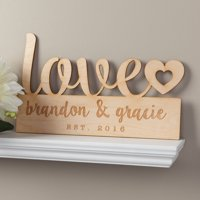 Our Love Personalized Wood Plaque