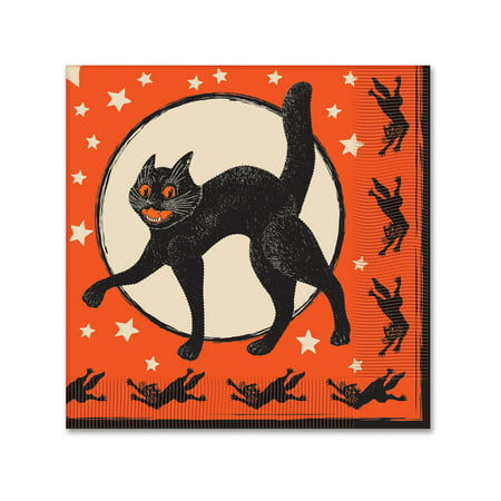 Lot 16 2-Ply Halloween Luncheon Bar Drink Part Decoration Paper Napkins - Construction Paper Halloween Decorations