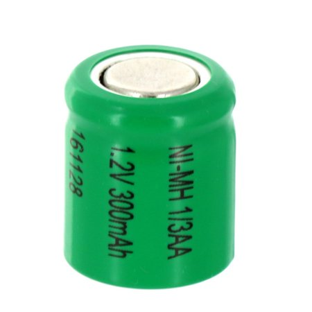 - 1/3AA  1.2V Flat top Rechargeable Battery For DIY, FRS, Keypads, Alarms
