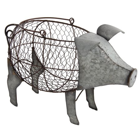 A&B Home Metal Pig Pig Basket