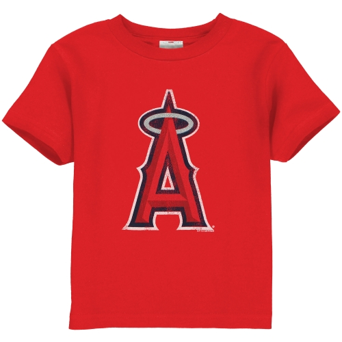 Los Angeles Angels Toddler Distressed Mascot T-Shirt - Red