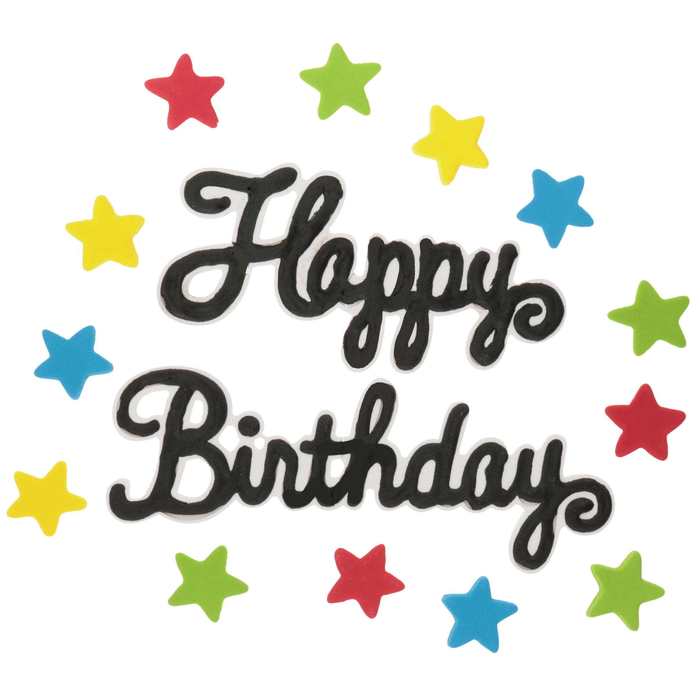 Wilton Edible Birthday Cake Topper Walmartcom