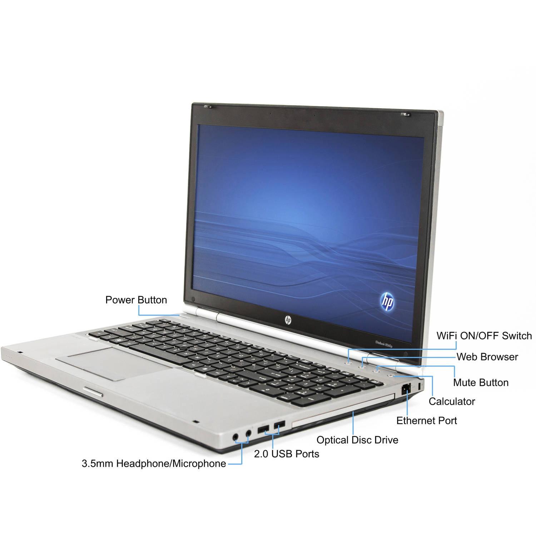 "Refurbished HP 15.6"" Elitebook 8560P Laptop PC with Intel Core i7-2720QM  Quad-Core Processor, 8GB Memory, 240GB Solid State Drive and Windows 10 Pro  ..."