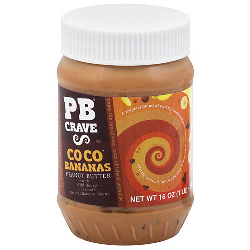 ***Discontinued by kehe 8_19***PB Crave Coco Bananas Peanut Butter, 16 oz, (Pack of 12)