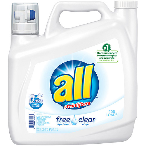 All Stainlifters Free and Clear Laundry Detergent, 150 oz