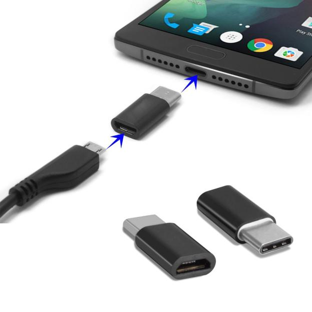 USB 3.1 Type-C Male to Micro USB Female Converter USB-C Adapter Type