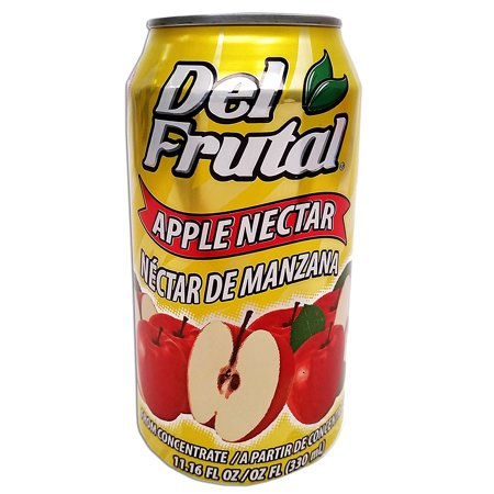 Del Frutal Apple Nectar 11.16 oz - Sabor Manzana (Pack of - Manzana Apple Halloween