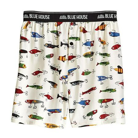 2e99a020e0e98 Little Blue House by Hatley - Men's Fishing Lures Boxer Shorts - Walmart.com