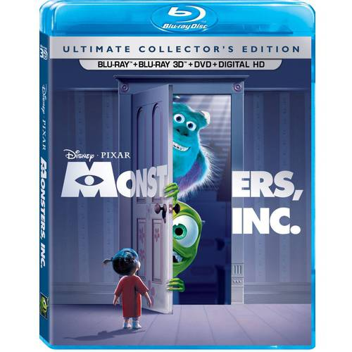 Monsters, Inc  (Ultimate Collector's Edition) (Blu-ray + Blu-ray 3D + DVD +  Digital HD)