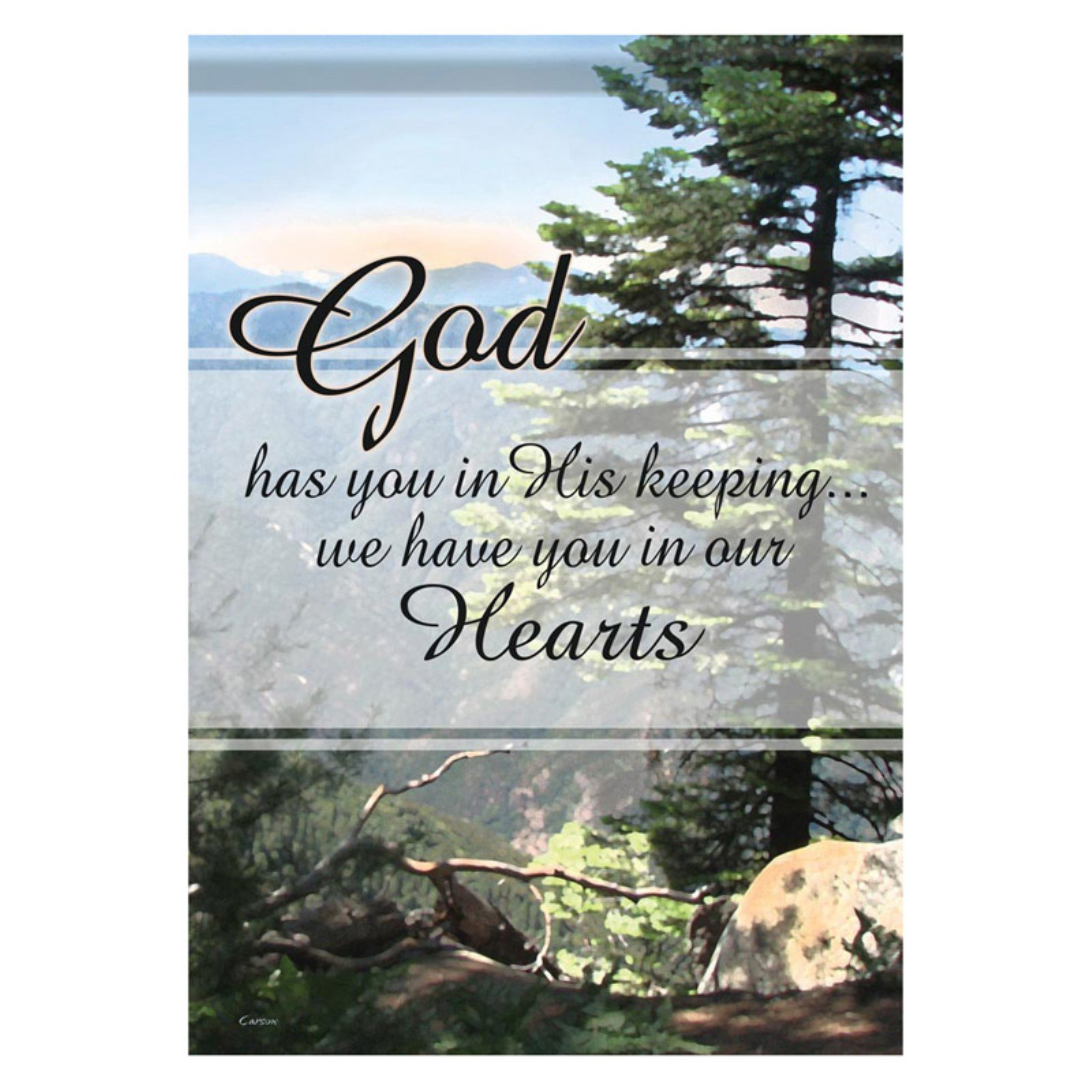 Carson 13 x 18 in. Gods Keeping Garden Flag