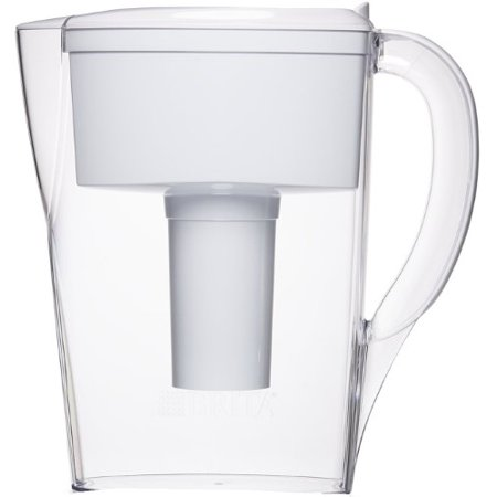 Brita 6 Cup Space Saver Water Filter Pitcher with 1 Filter, White