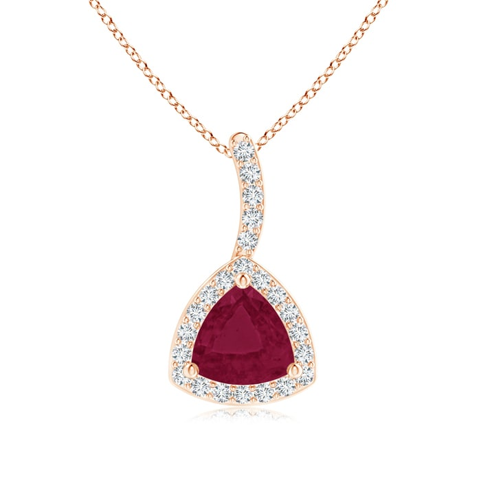 Angara Ruby Necklace in 14k Rose Gold - July Birthstone Pendant e0QdZ